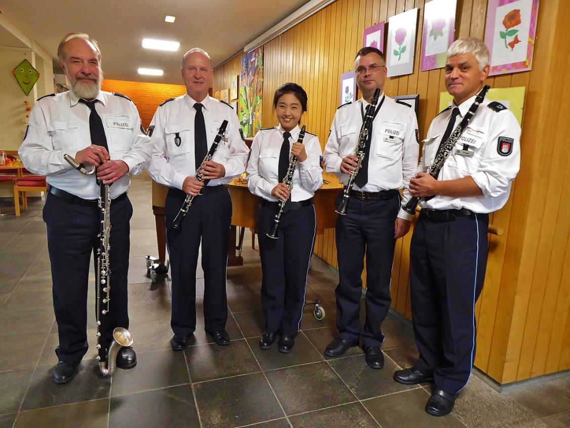 Das Klarinettenensemble des Polizeiorchesters Hamburg