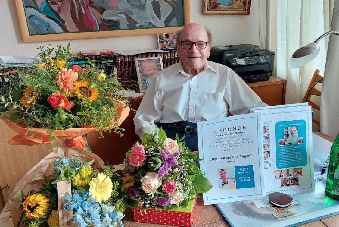 Herrn Salden 100. Geburtstag