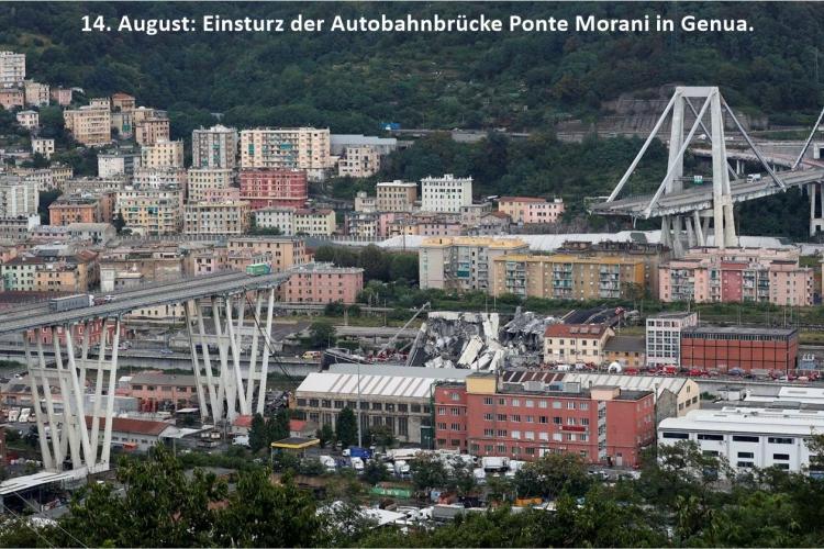 Der Einsturz der Ponte Morani in Genua